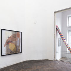 New Jörg, Vienna 2016, from left to right: Untitled, 170 x 90 x 100cm, paper, steel, 2016 Untitled, 200 x 110 x 100cm, paper, steel, 2016 Untitled, 120 x 200 x 100cm, paper, steel, 2016, Photo: Georg Petermichl