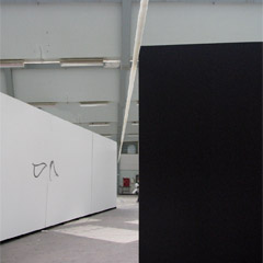 Fabrikken for Art and Design Copenhagen, 2008, Untitled, 10x10x3500cm, paper, steel, 2008
