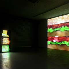 Kunstraum Johann Widauer, Innsbruck 2004, Untitled, each: 3monitors, 3 videos (4min, loop), 2003