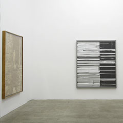 Galerie Johann Widauer, Innsbruck, 2013, untitled, 180x150cm, MDF, glass, chlorine on paper, tape, 2013